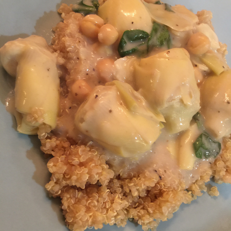 PopVegOnline Community | Artichoke Newburg – EZ from Betty Goes #Vegan Cookbook